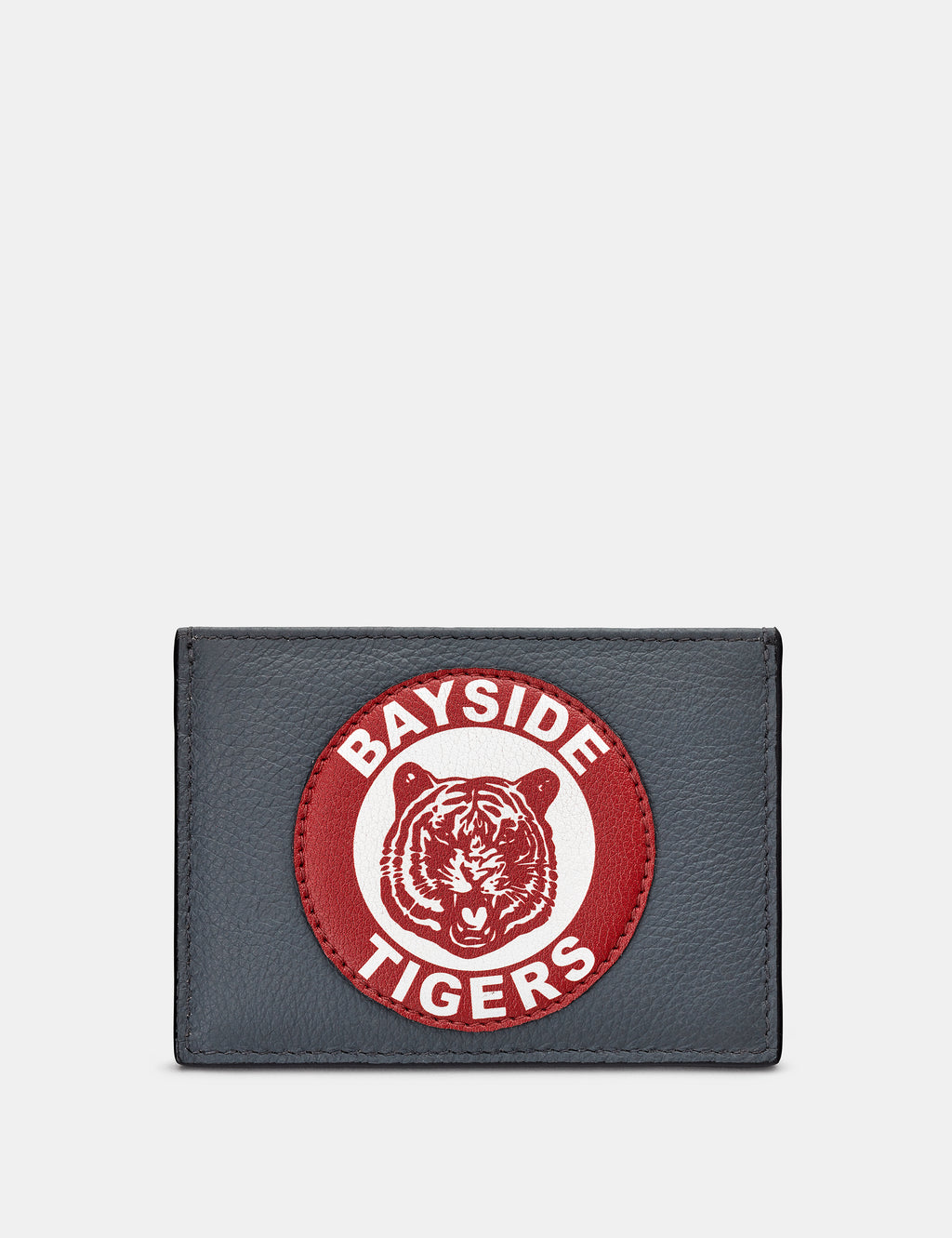 Bayside Tigers Slim Grey Leather Card Holder