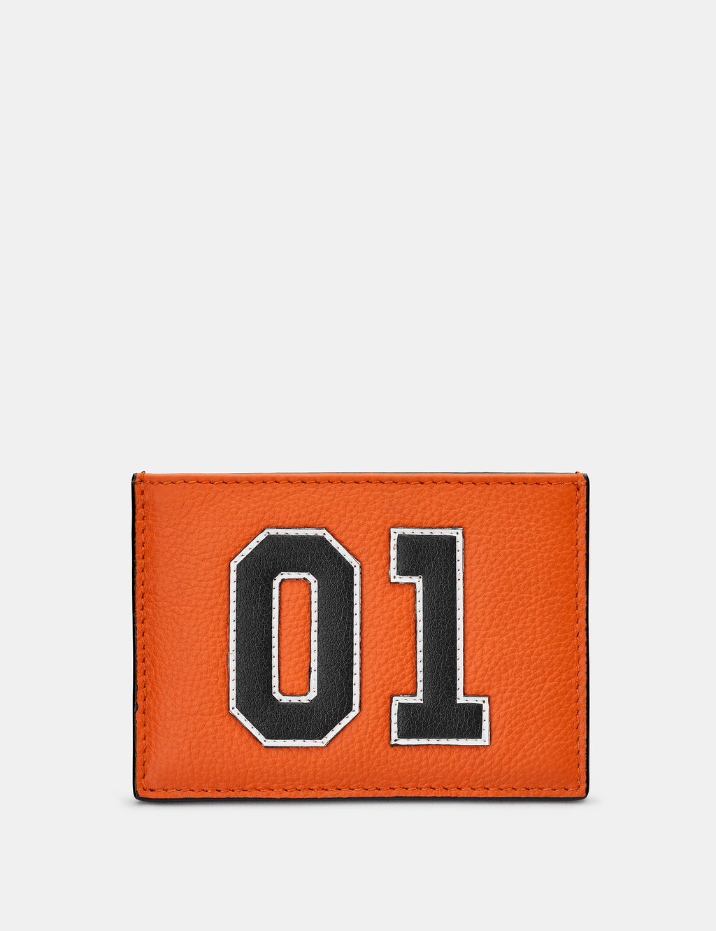 Car Livery No. 01 Orange and Black Leather Card Holder