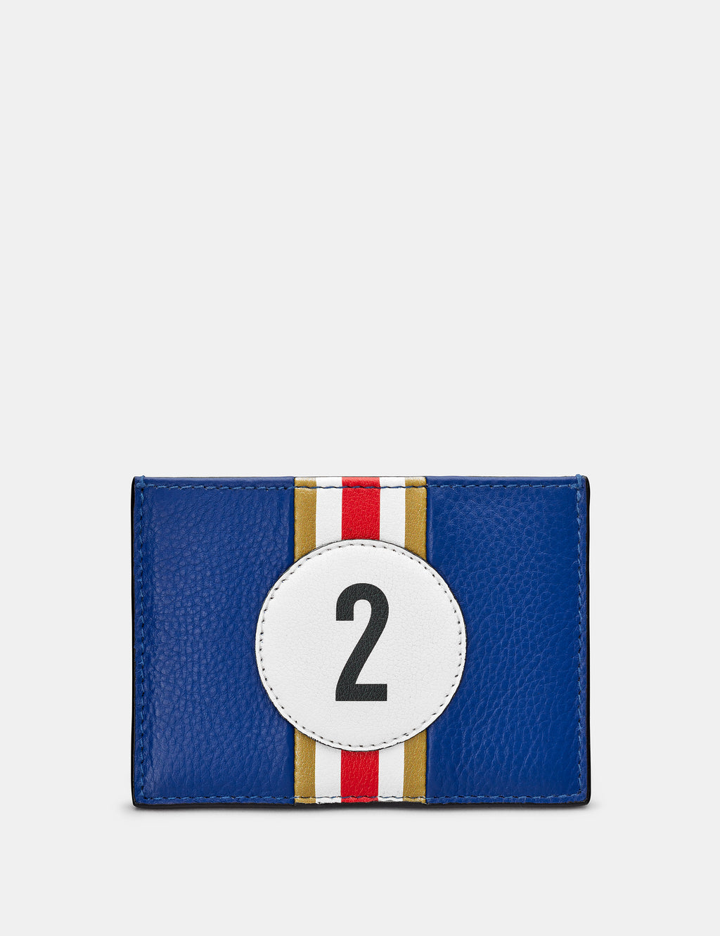 Car Livery No. 2 Blue and Black Leather Card Holder