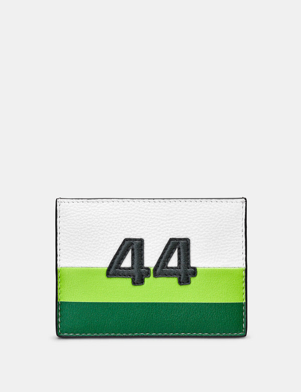 Car Livery No. 44 White and Black Leather Card Holder