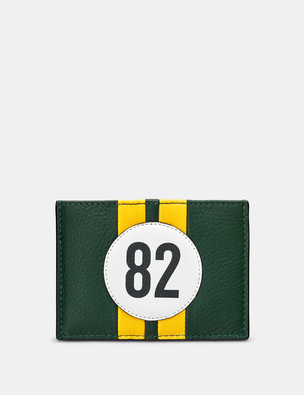 Car Livery No. 82 Green and Black Leather Card Holder