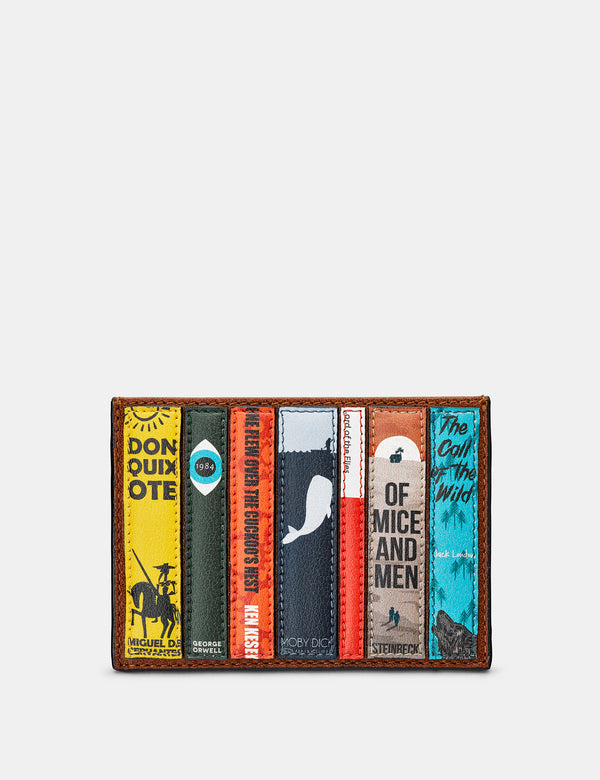Bookworm Slim Brown Leather Card Holder