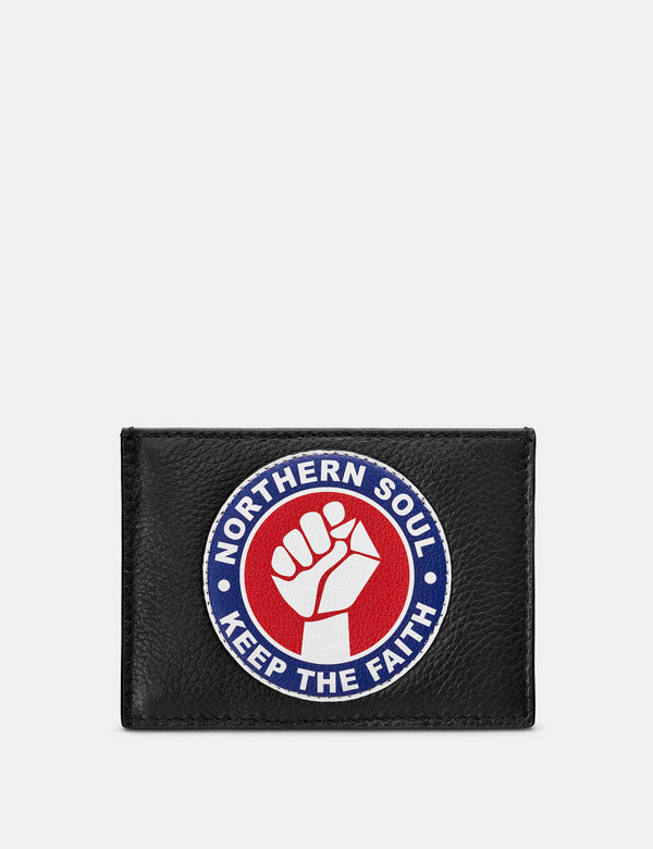 Northern Soul Black Leather Card Holder