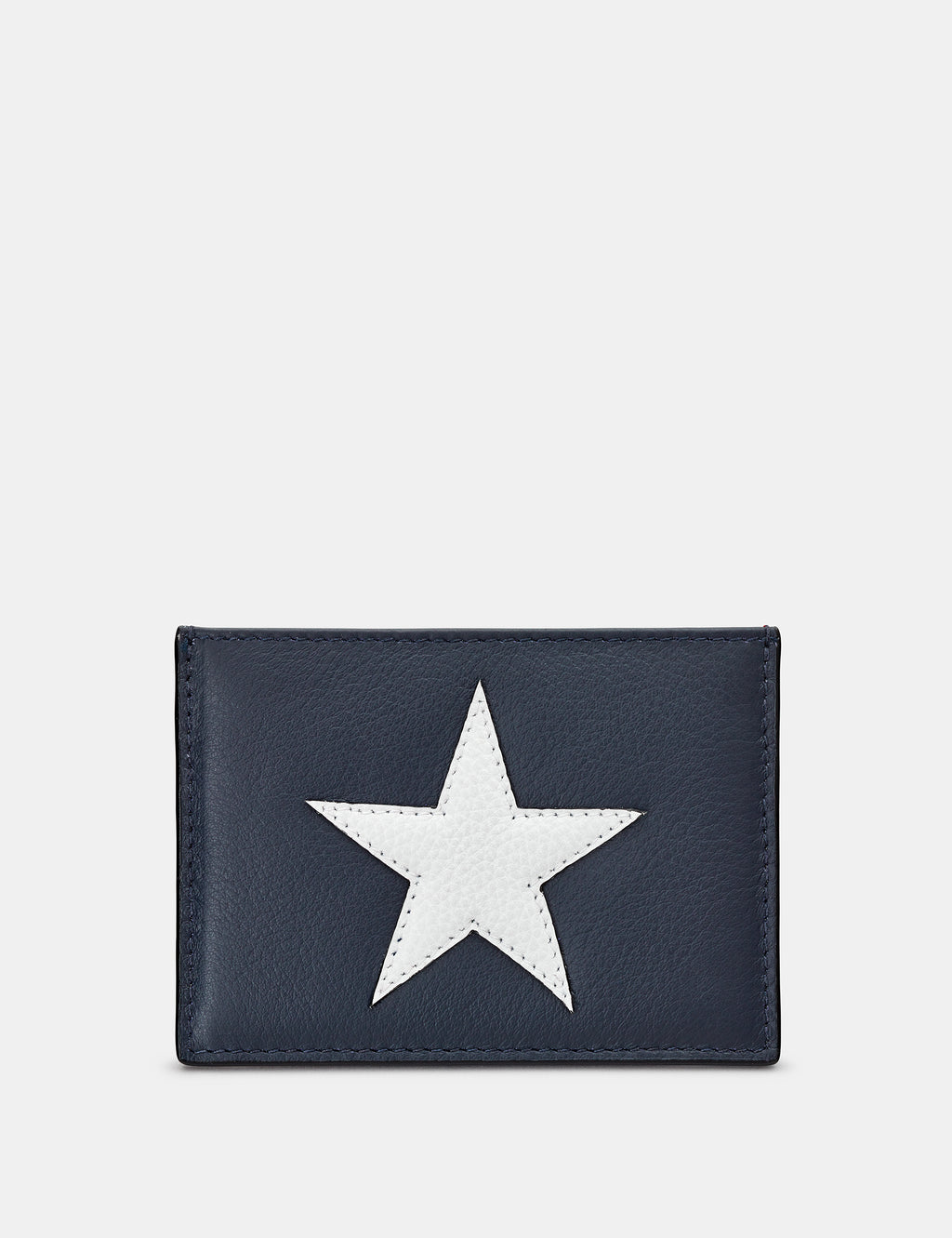 Star & Stripe Slim Leather Card Holder