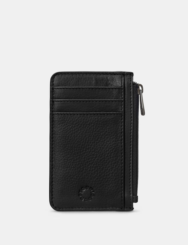 Zip Top Leather Card Holder