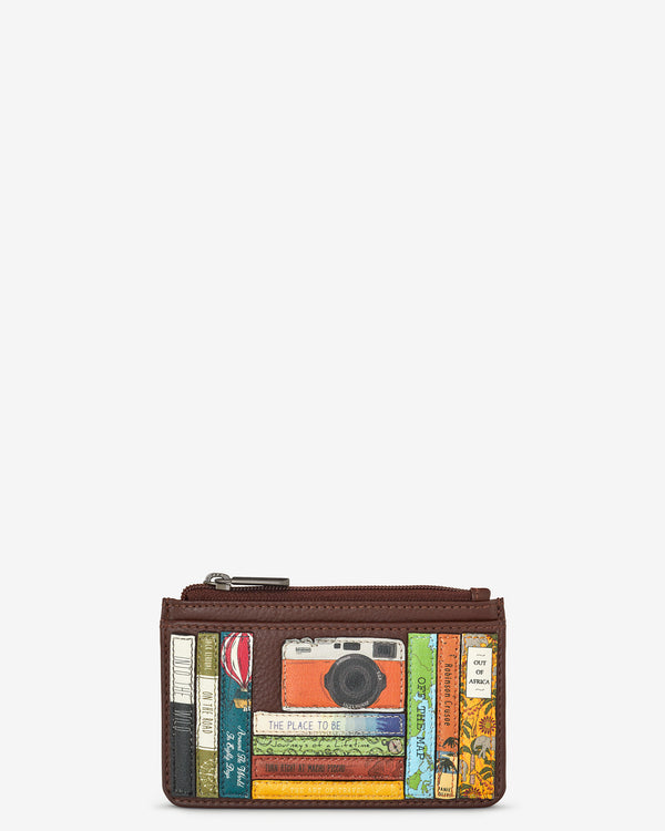 Travel Bookworm Library Morton Leather Card Holder