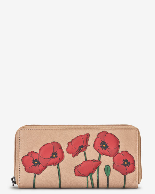 Poppy Zip Round Leather Purse