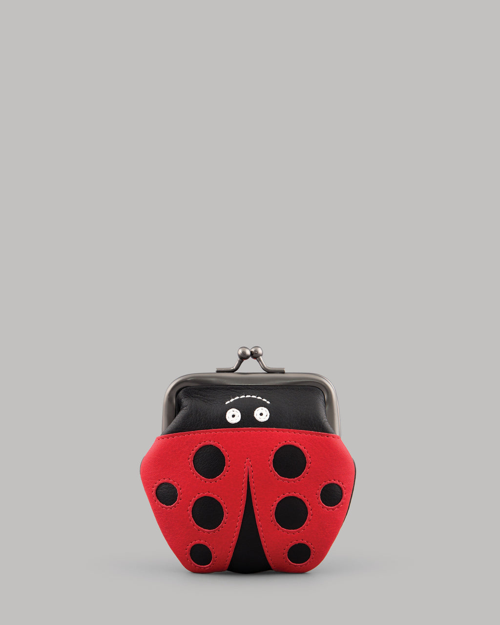 Lucy the Ladybird Leather Clip Top Purse