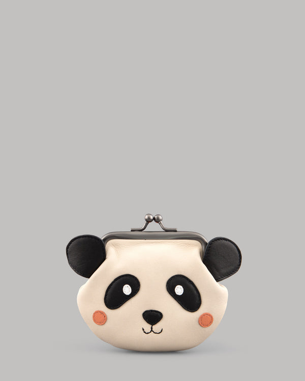 Po the Panda Leather Clip Top Purse