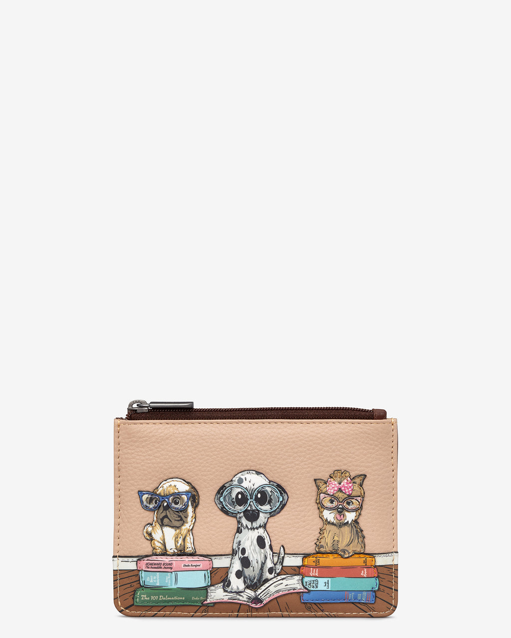 Bookhound Gang Zip Top Leather Purse