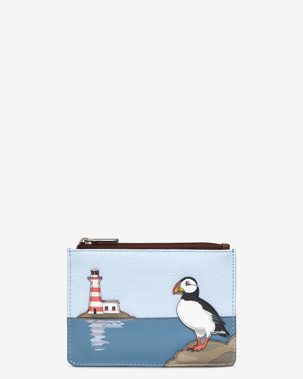 Puffin Island Zip Top Leather Purse