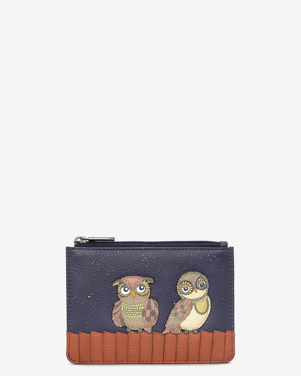 Owl You Need Zip Top Leather Purse