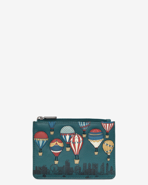 Amongst the Clouds Zip Top Leather Purse