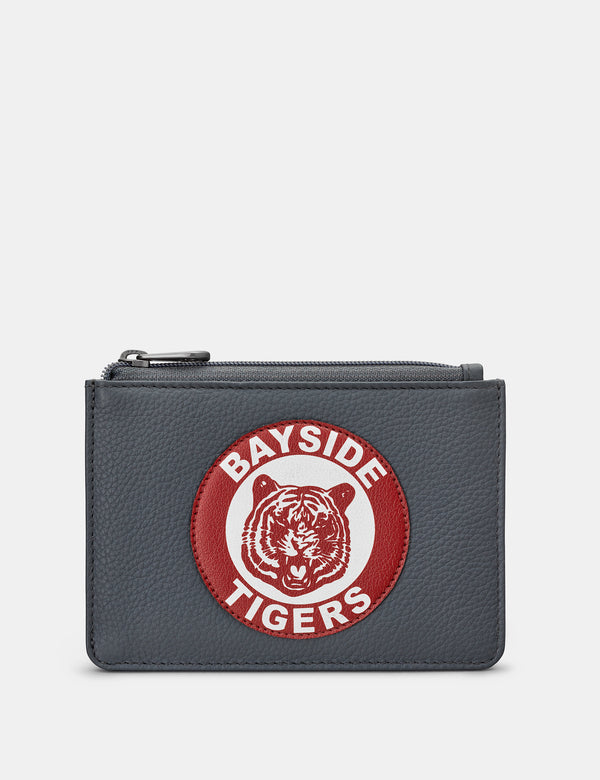 Bayside Tigers Grey Leather Zip Top Purse