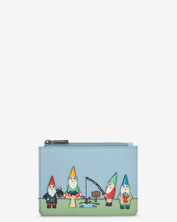 Gnome Sweet Gnome Leather Zip Top Purse