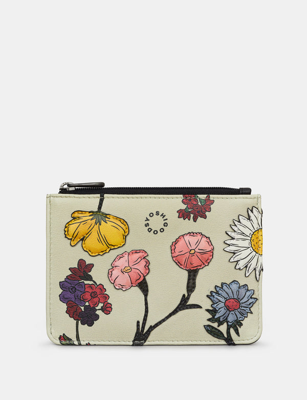 Herbarium Zip Top Leather Purse