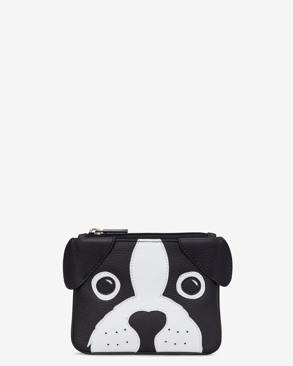 Max The Dog Zip Top Leather Purse