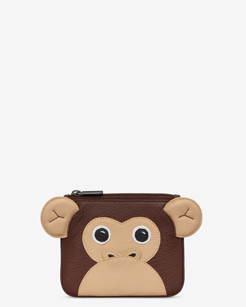 Marcel the Monkey Zip Top Leather Purse