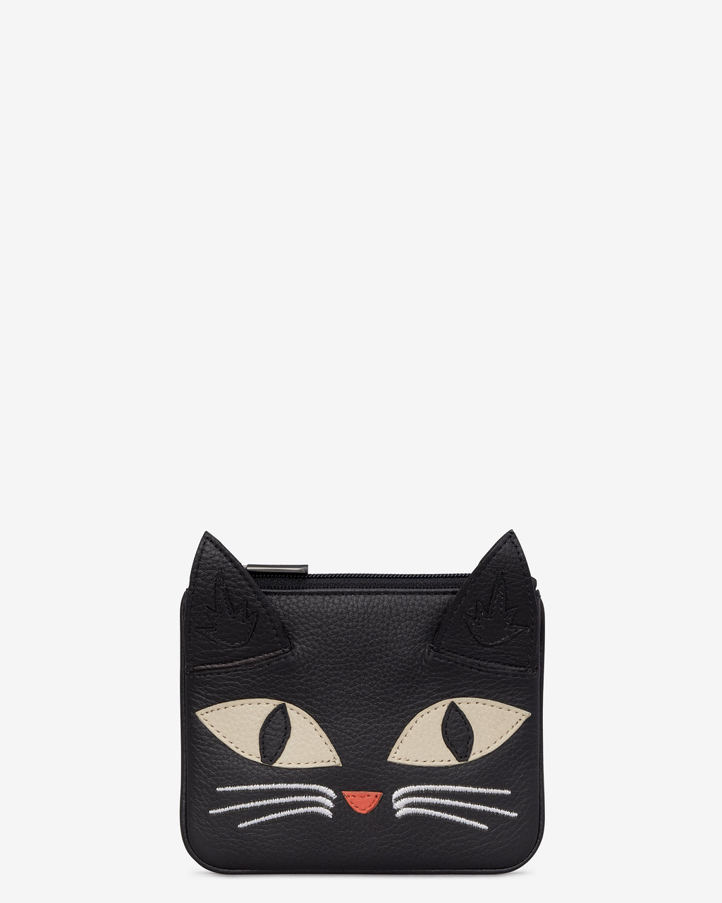 Bruce The Cat Leather Zip Top Purse