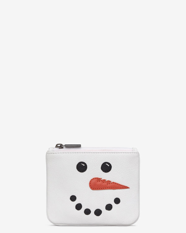 Frosty the Snowman Zip Top Leather Purse