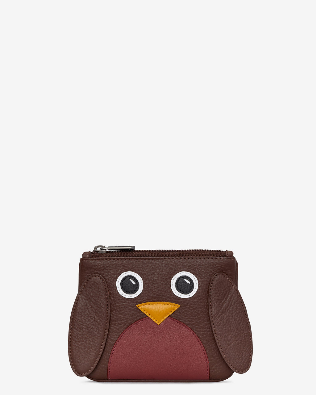 Holly the Robin Zip Top Leather Purse