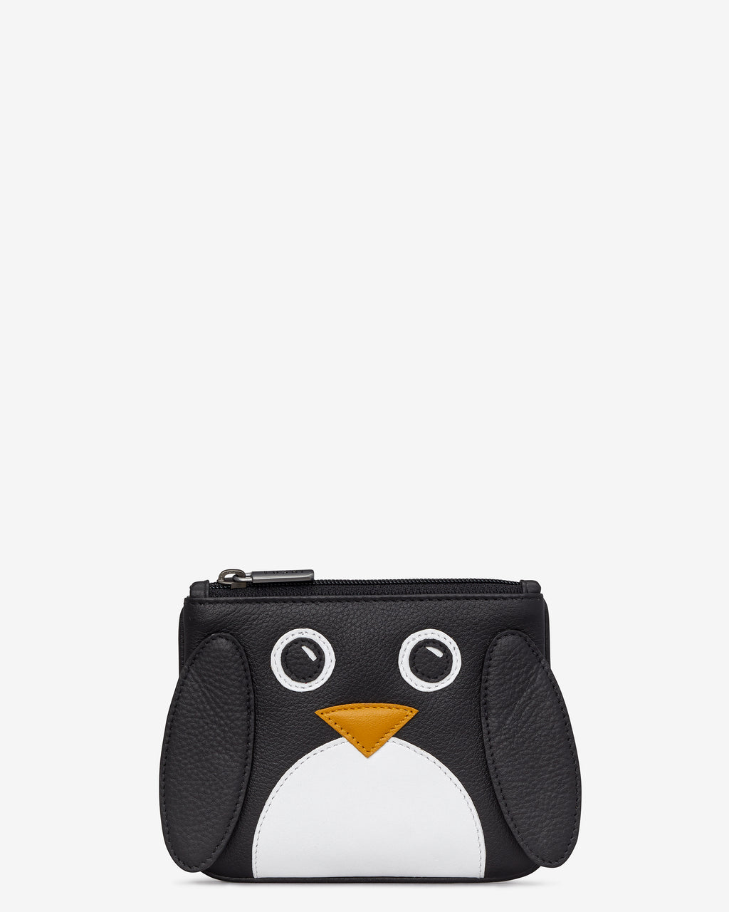 Greta the Penguin Zip Top Leather Purse
