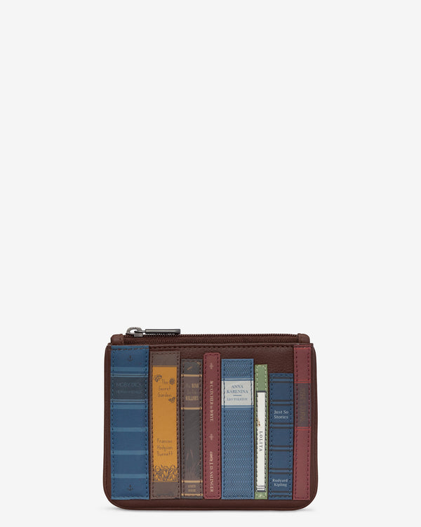 Bookworm Library Zip Top Leather Purse