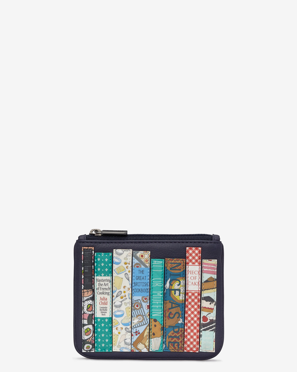 Cook Bookworm Library Zip Top Leather Purse
