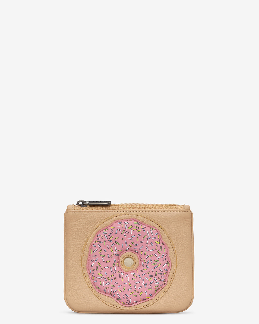 Donut Leather Zip Top Purse