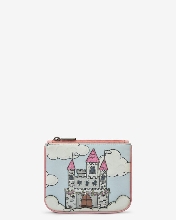 Leather Zip Top Princess Castle Purse