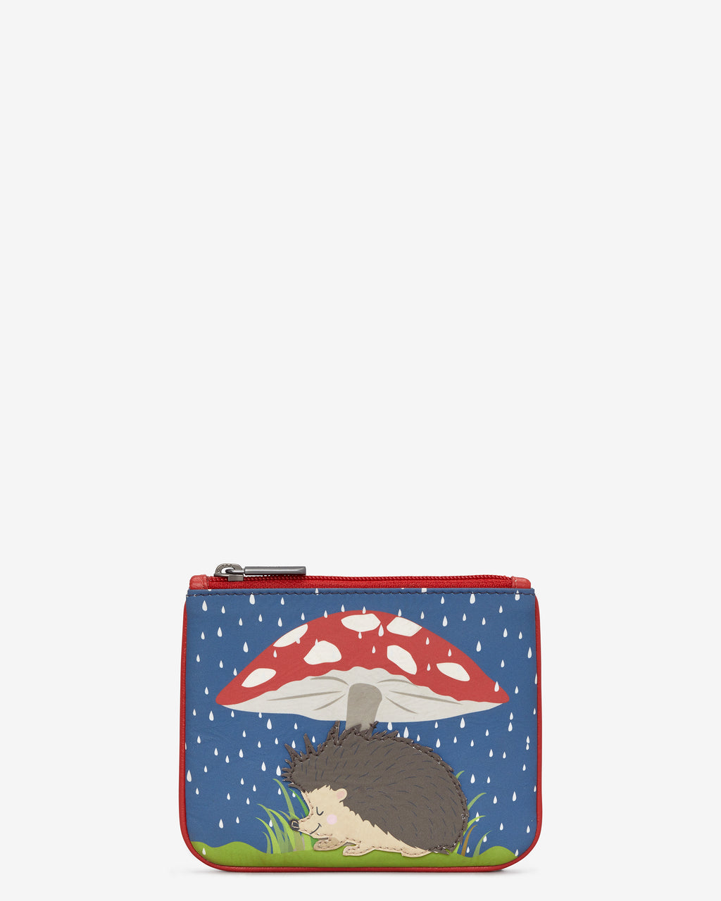 Y By Yoshi Leather Zip Top Hattie The Hedgehog Purse