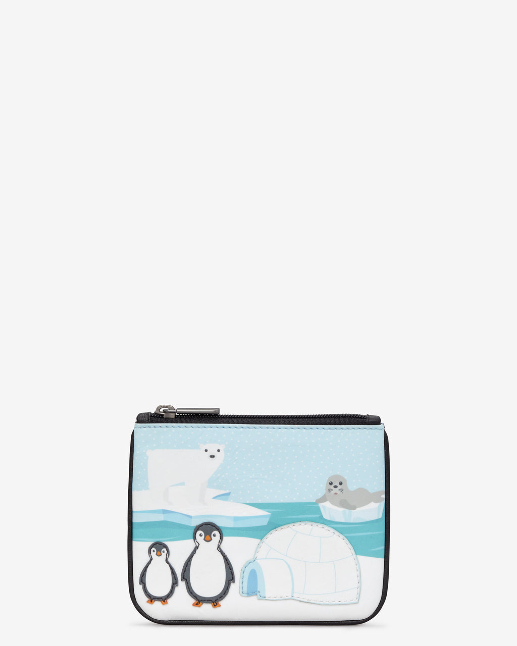 Yoshi Arctic Leather Zip Top Purse
