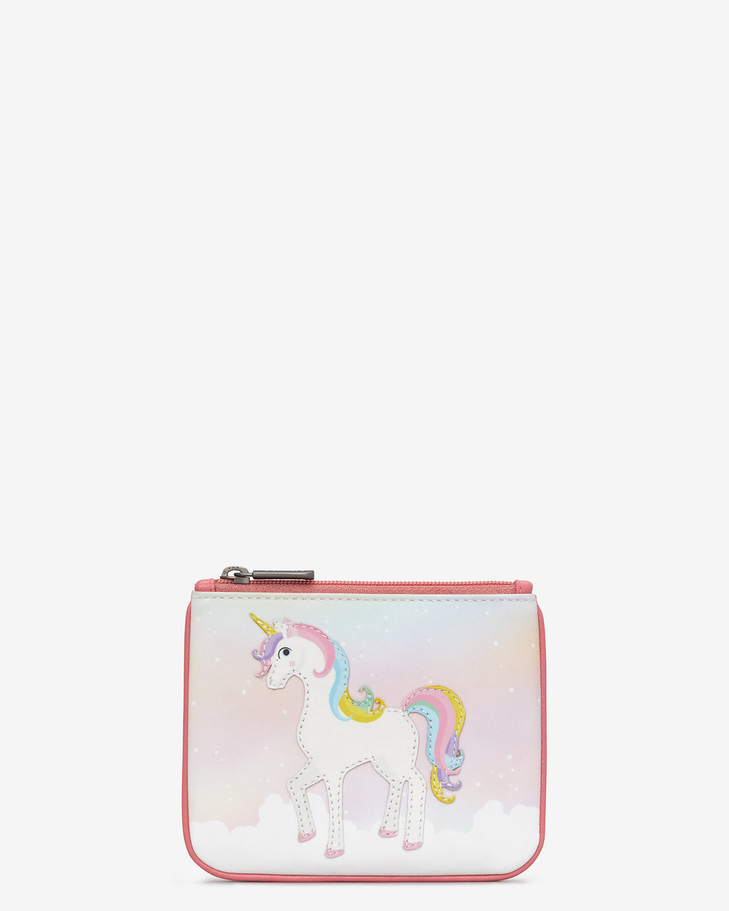 Y By Yoshi Leather Zip Top Unicorn Purse