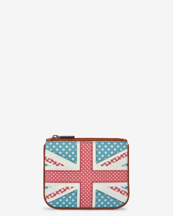 Leather Zip Top Union Jack Purse