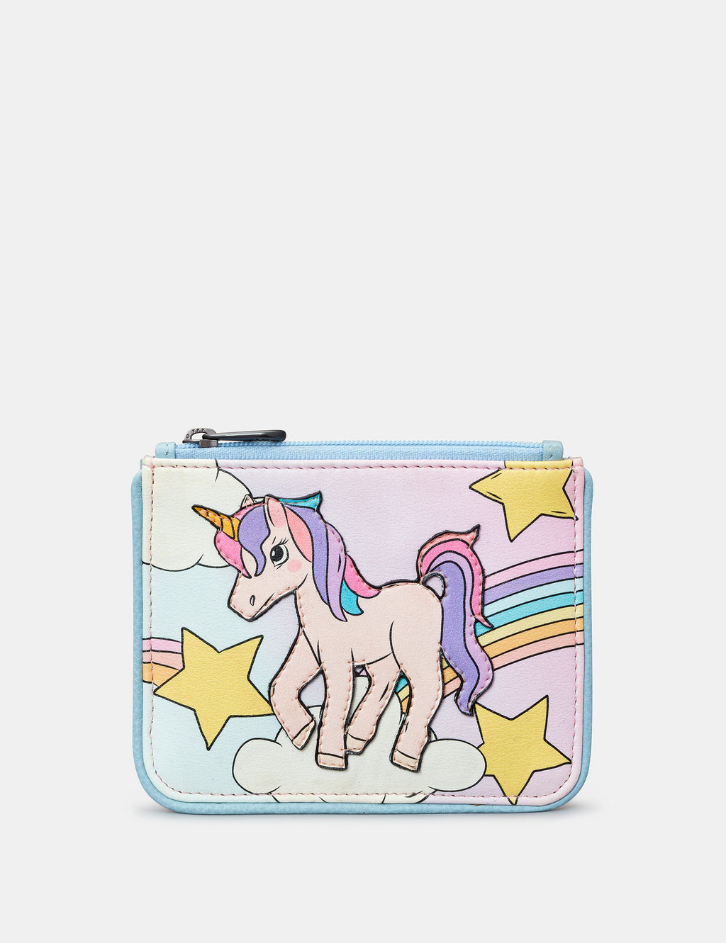 Leather Magical Unicorn Zip Top Purse