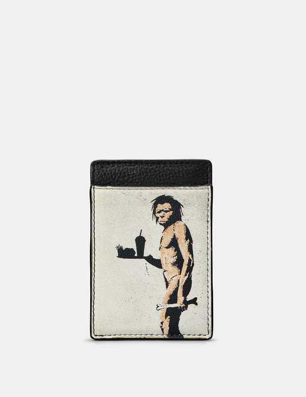 Banksy Ape Man Compact Leather Card Holder
