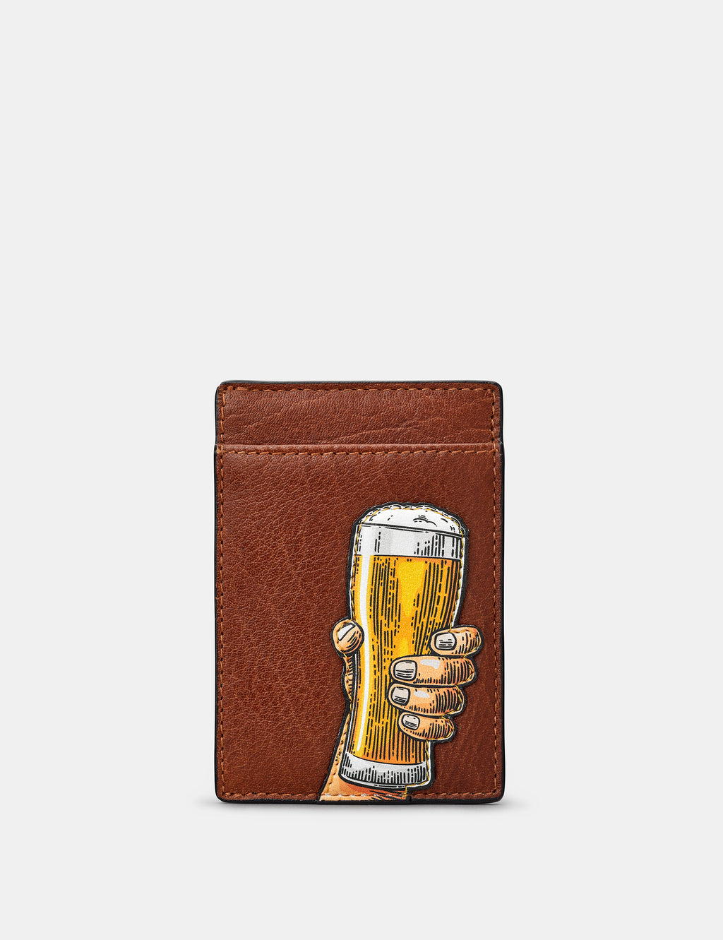 Cheers Compact Leather Card Holder