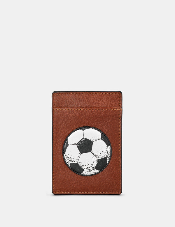 Football Compact Leather Card Holder