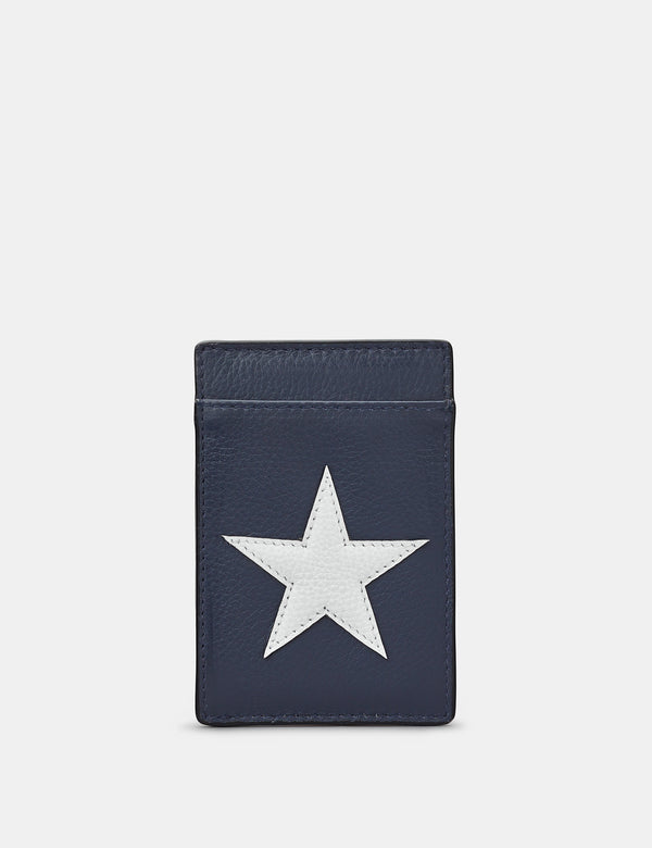 Star & Stripes Compact Leather Card Holder