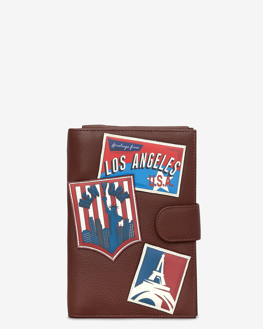 Happy Travels Leather Travel Document Holder