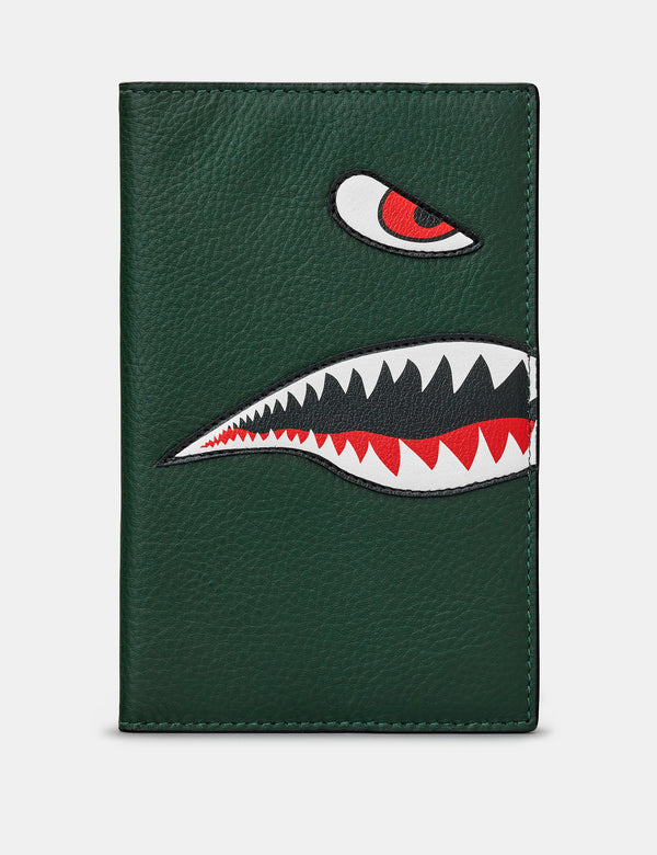 Nose Cone Green Leather Golf Scorecard Holder