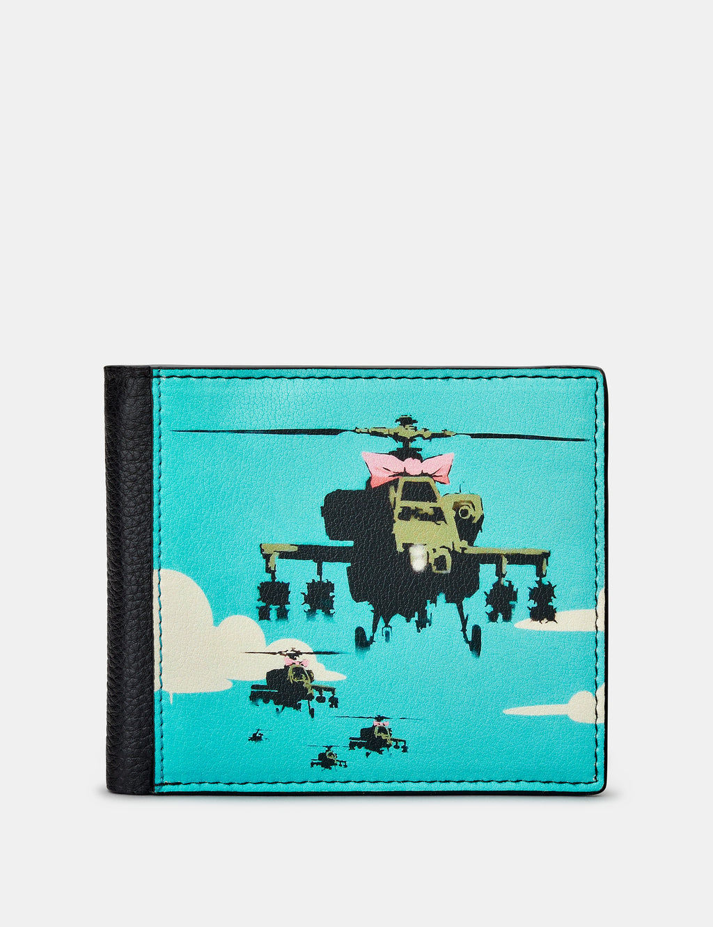 Banksy Apache Black Leather Wallet