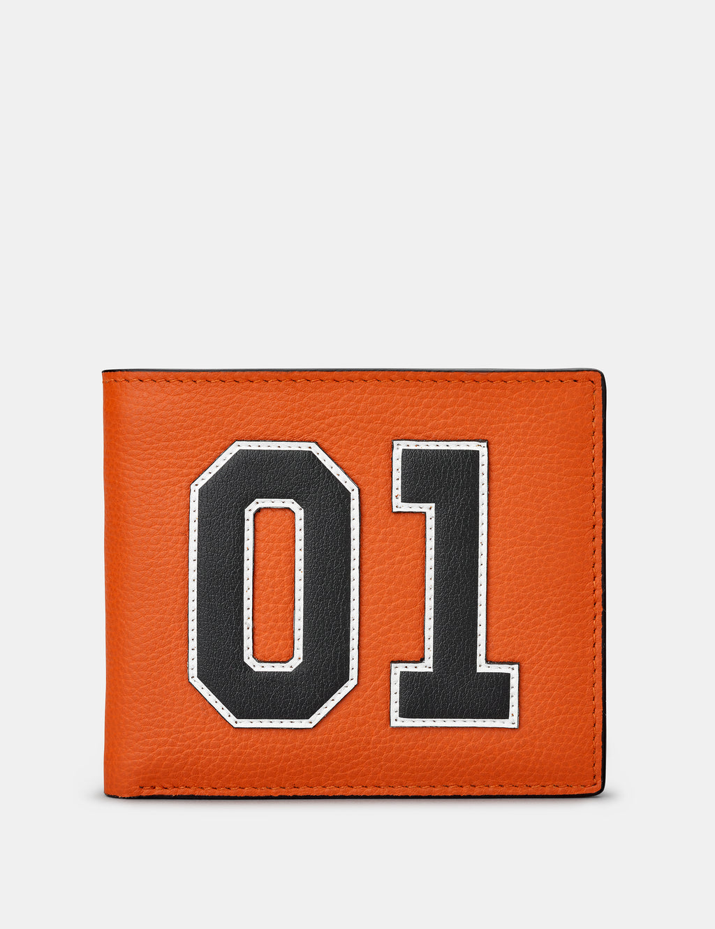 Car Livery No. 1 Orange and Black Leather Wallet