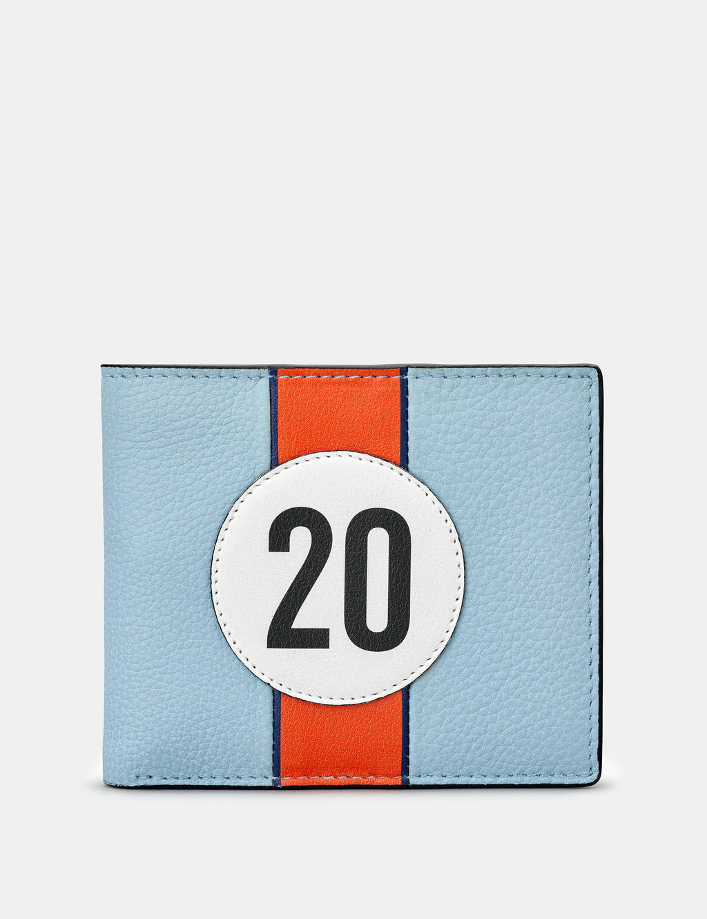 Car Livery No. 20 Blue and Black Leather Wallet