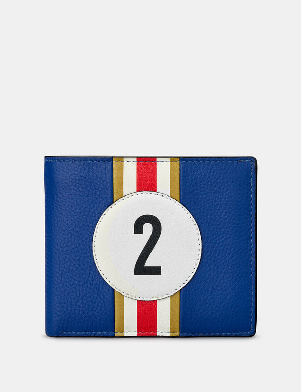 Car Livery No. 2 Blue and Black Leather Wallet