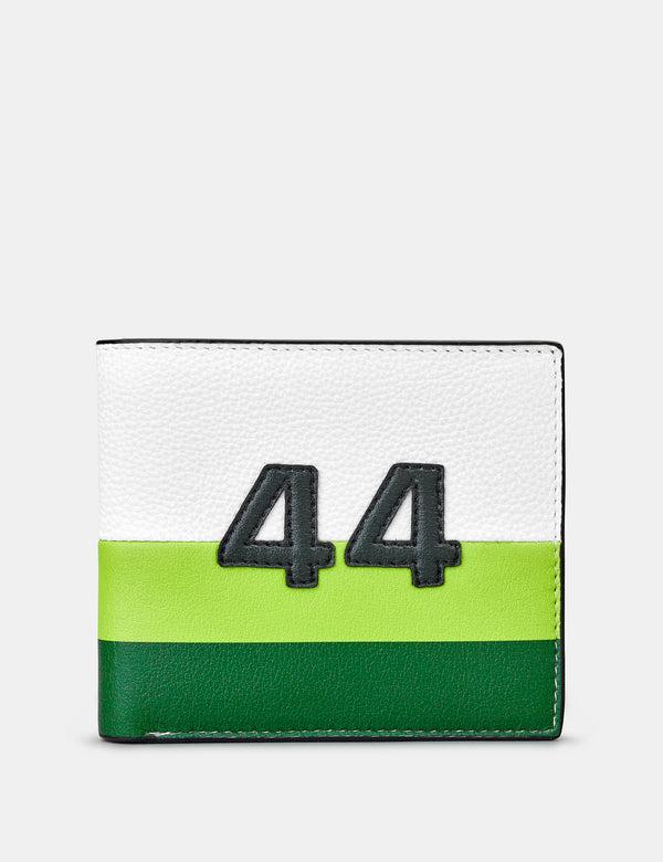 Car Livery No. 44 White, Green and Black Leather Wallet