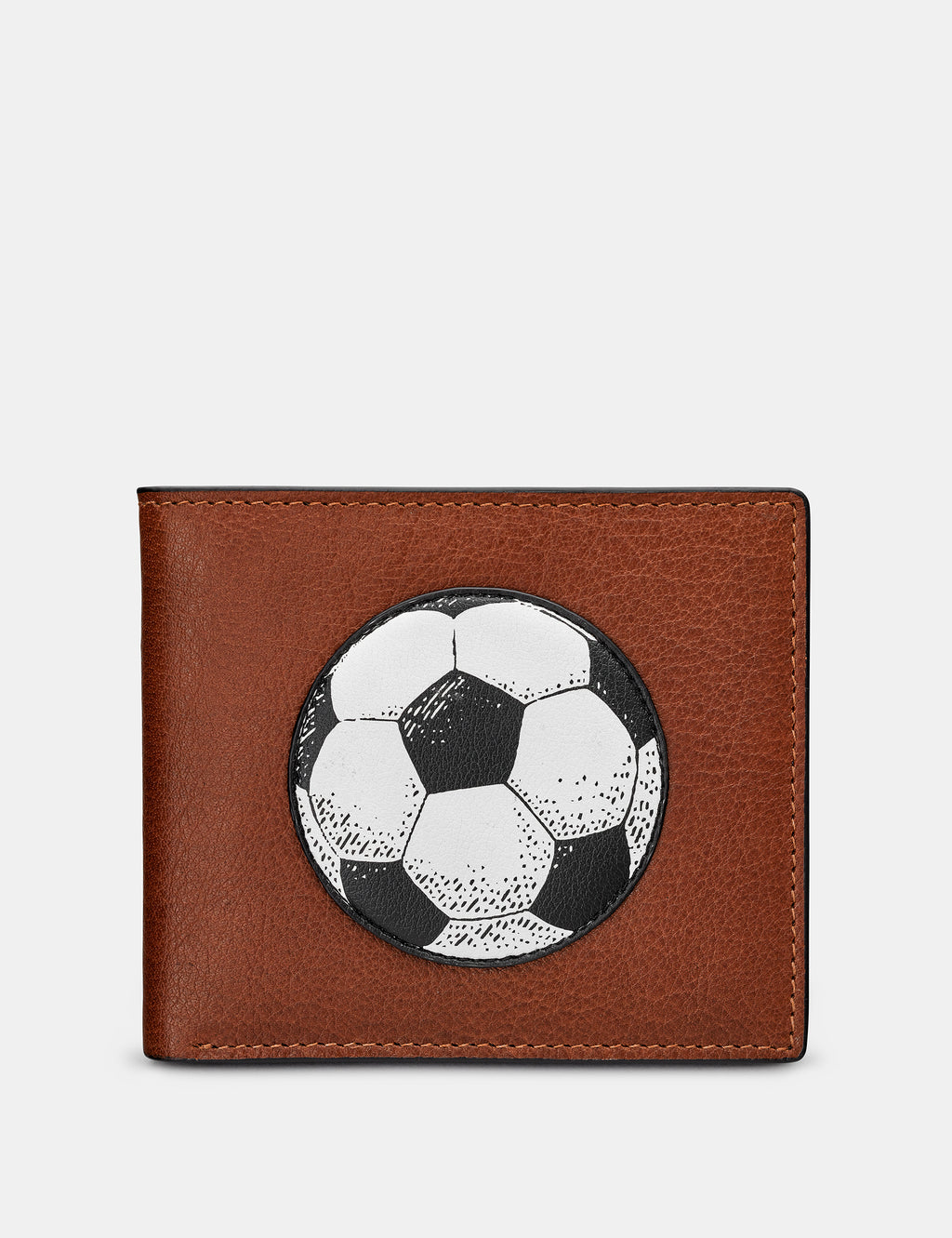 Football Brown Leather Wallet