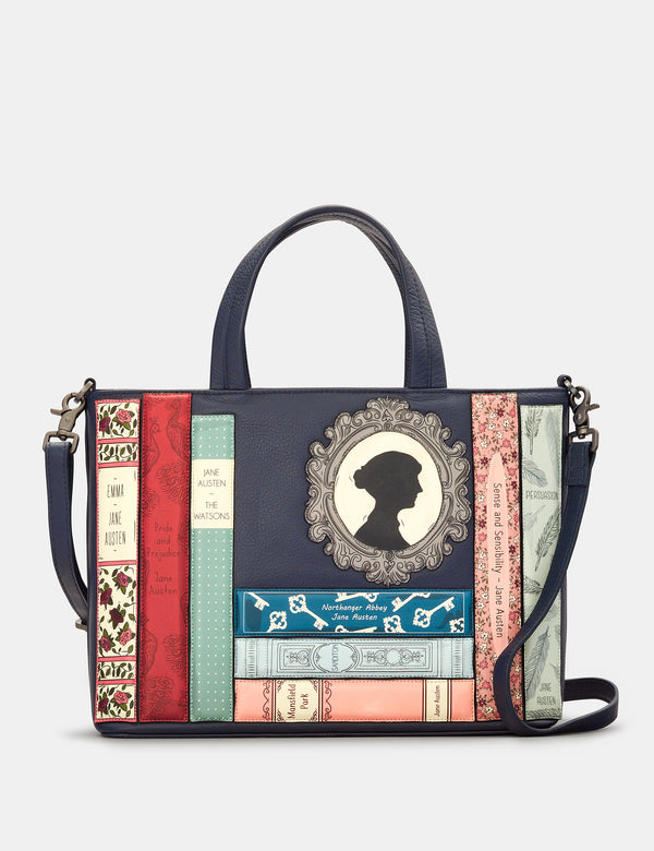 Jane Austen Bookworm Library Leather Grab Bag