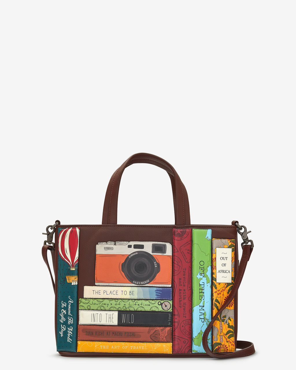 Travel Bookworm Library Leather Grab Bag