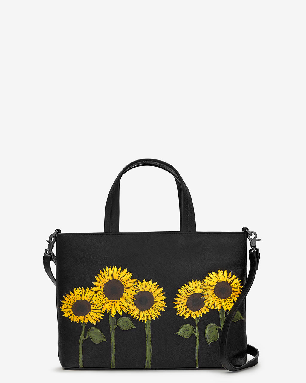 Sunflowers Leather Multiway Grab Bag
